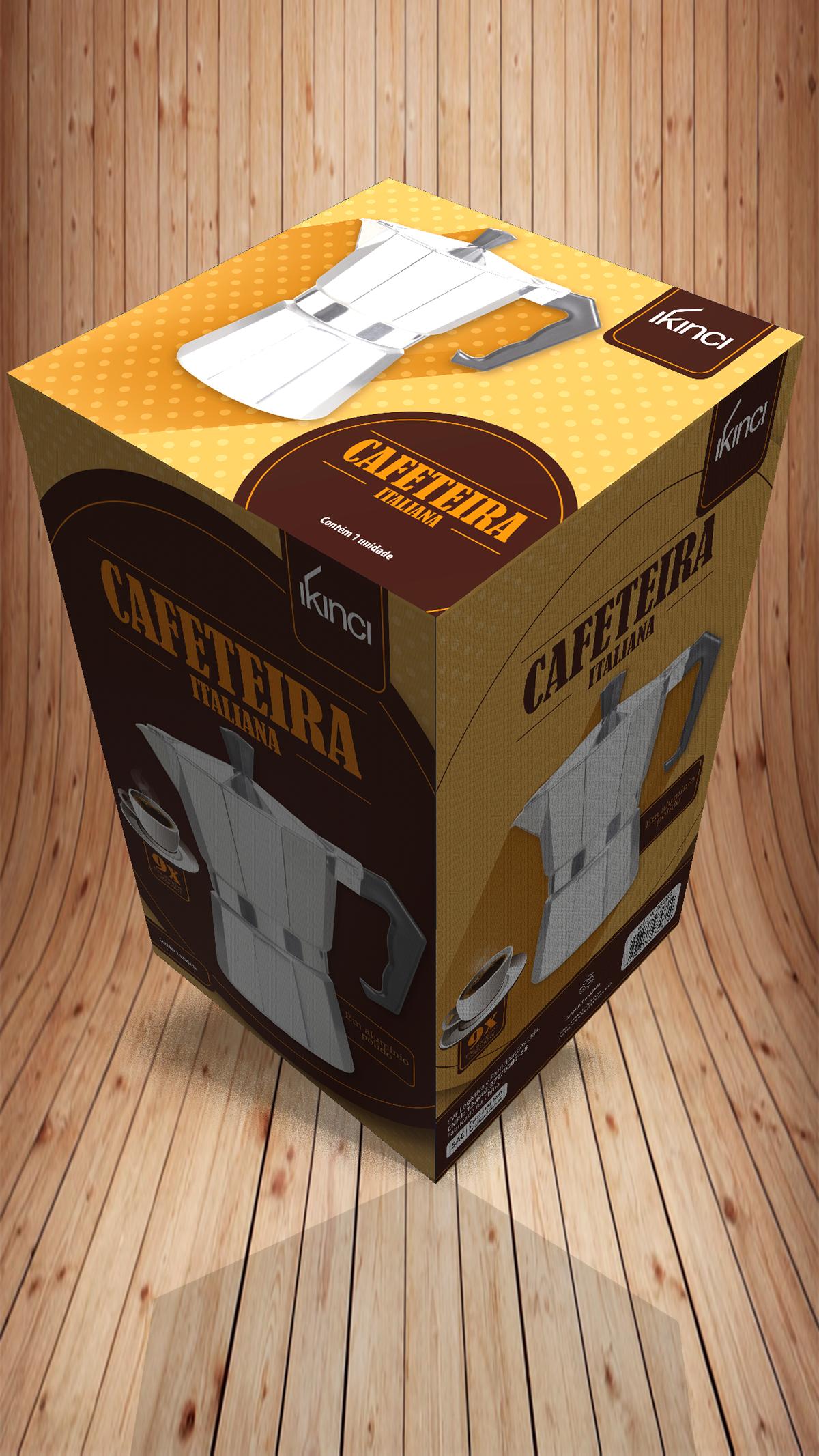 Caixa colorbox cafeteira cafe coffe package embalagem