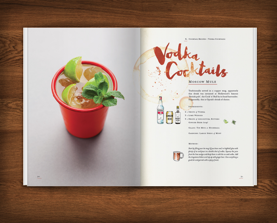 classic cocktails at home on behance