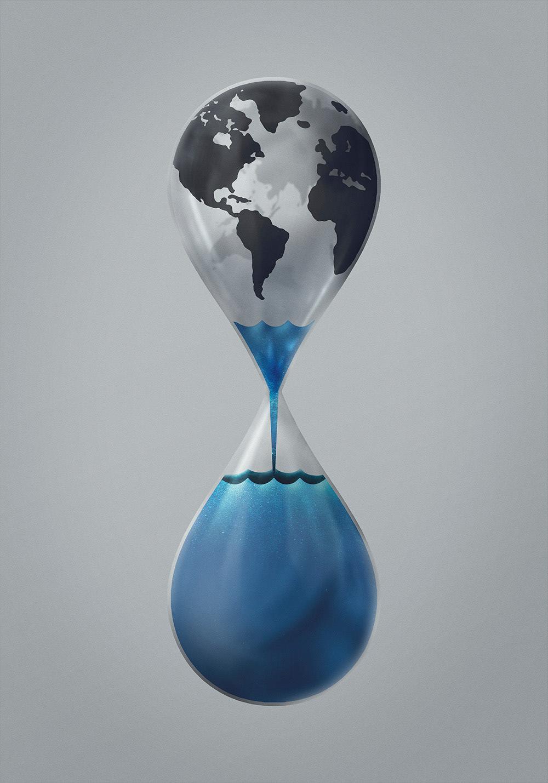 acabar agua gota hongos humedad plantas reloj Vida