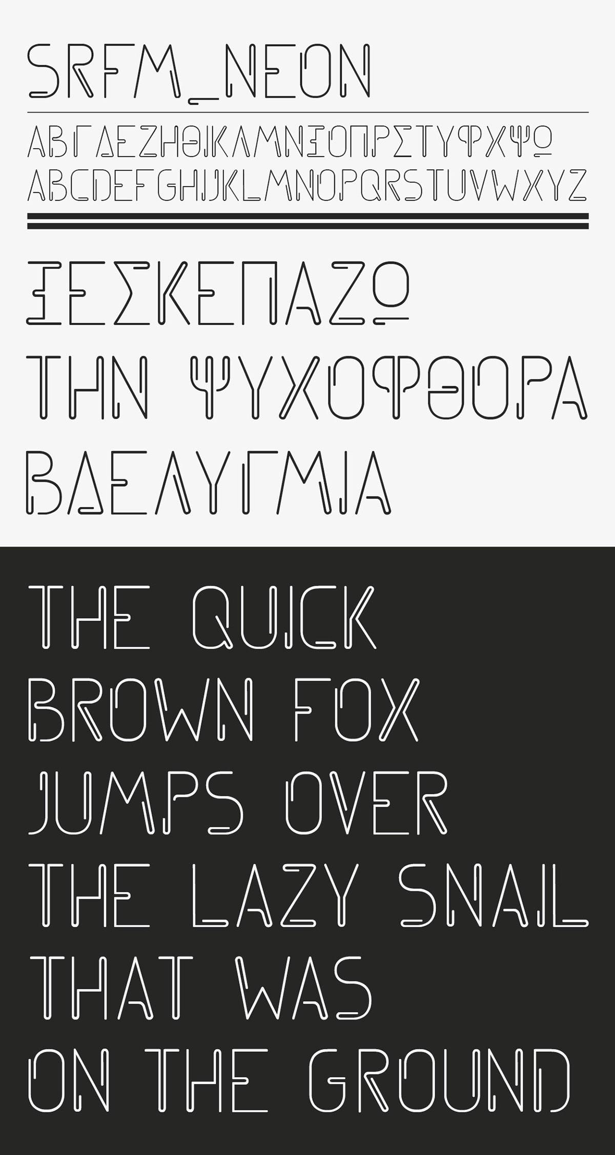 font neon clip free linear Typeface greek