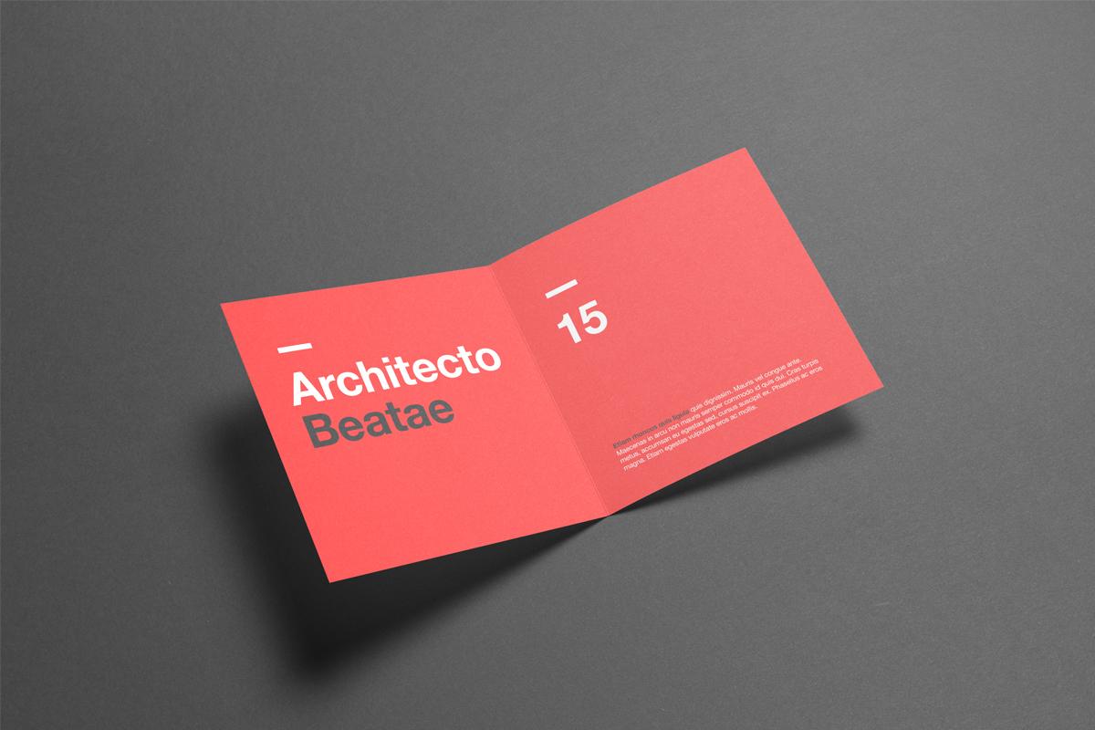 Square Bi-Fold / Half Fold Brochure Mock Up on Behance