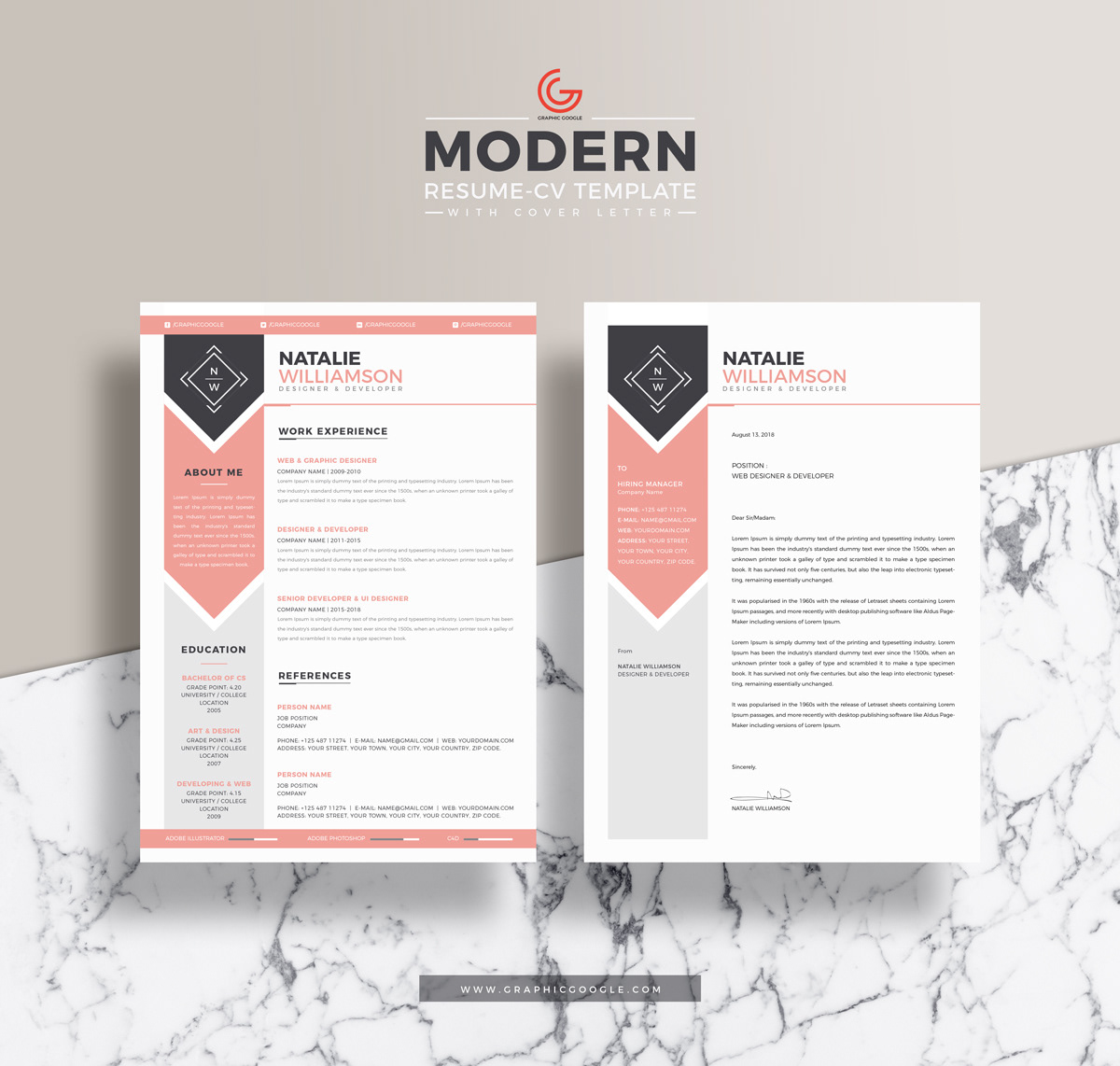 Free Designer & Developer Resume with Cover Letter on Behance