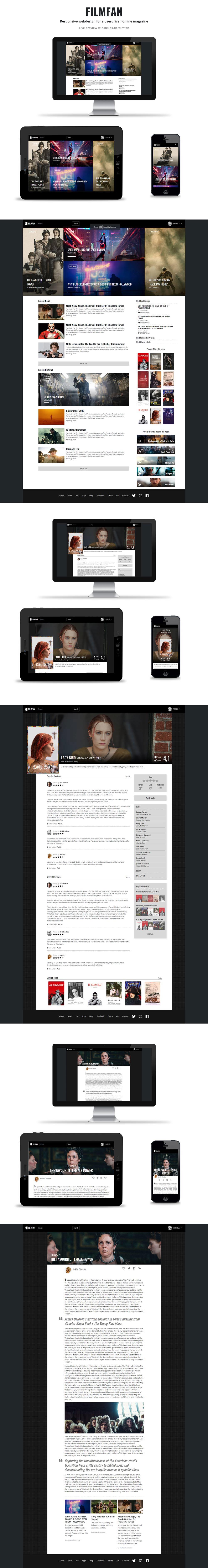 Film   Cinema community Webdesign HTML