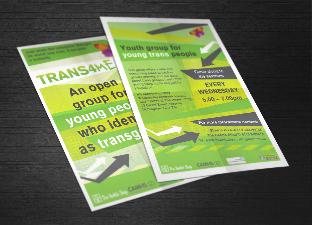 Poster design nottingham - A5 Double Sided Leaflet