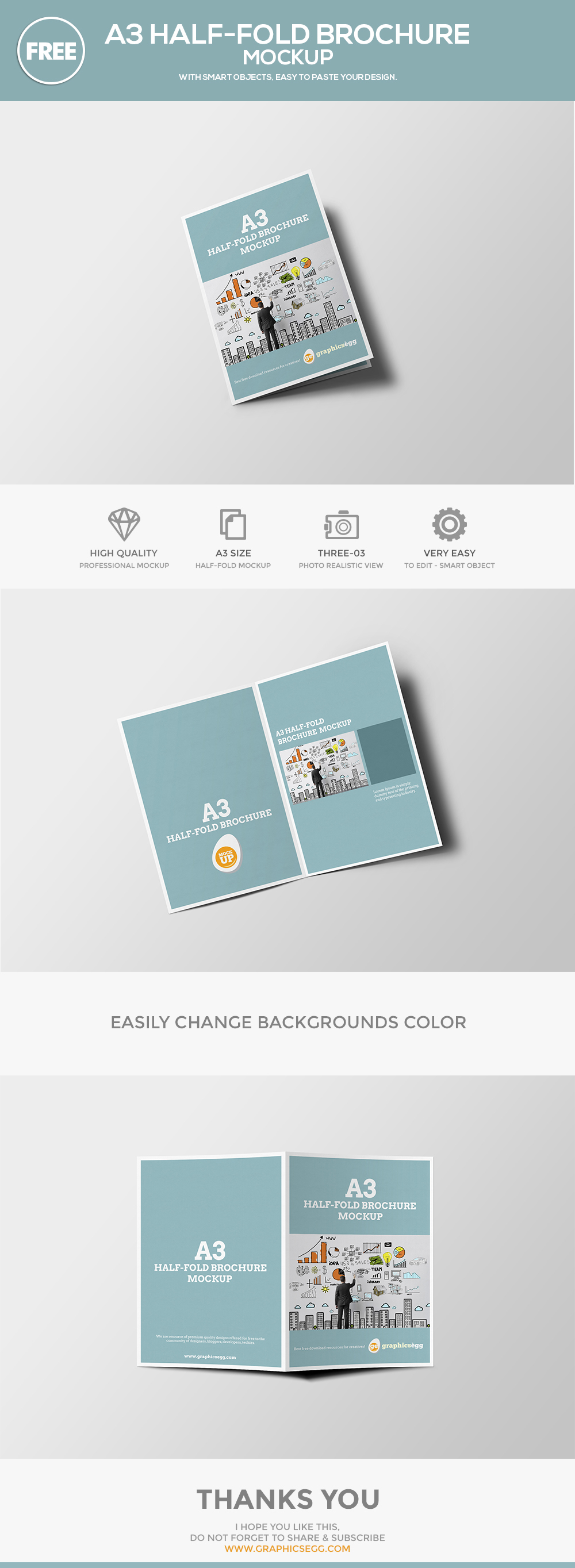 half fold brochure template free download
