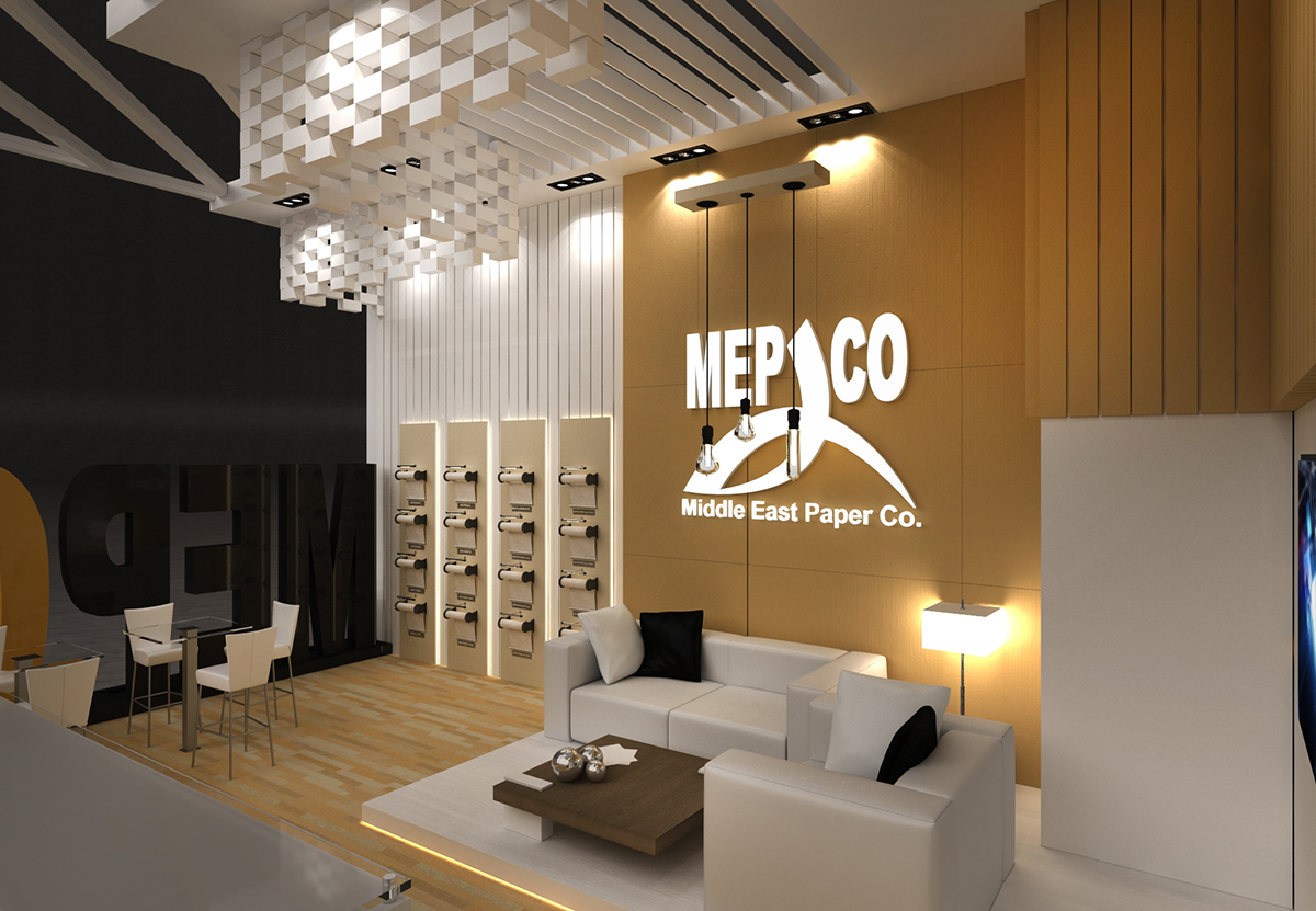 Mepco booth at Paper Arabia exhibition 2017 on Pantone Canvas Gallery