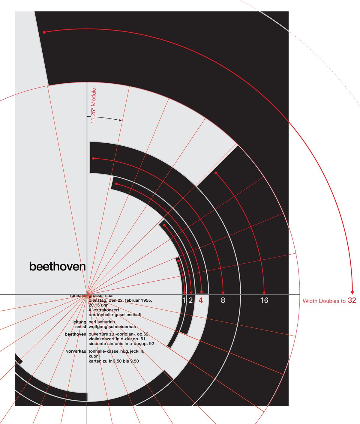 Müller-Brockmann graphic design  music design Poster Design international style  grid geometry Geometry of Design grid system Kimberly Elam