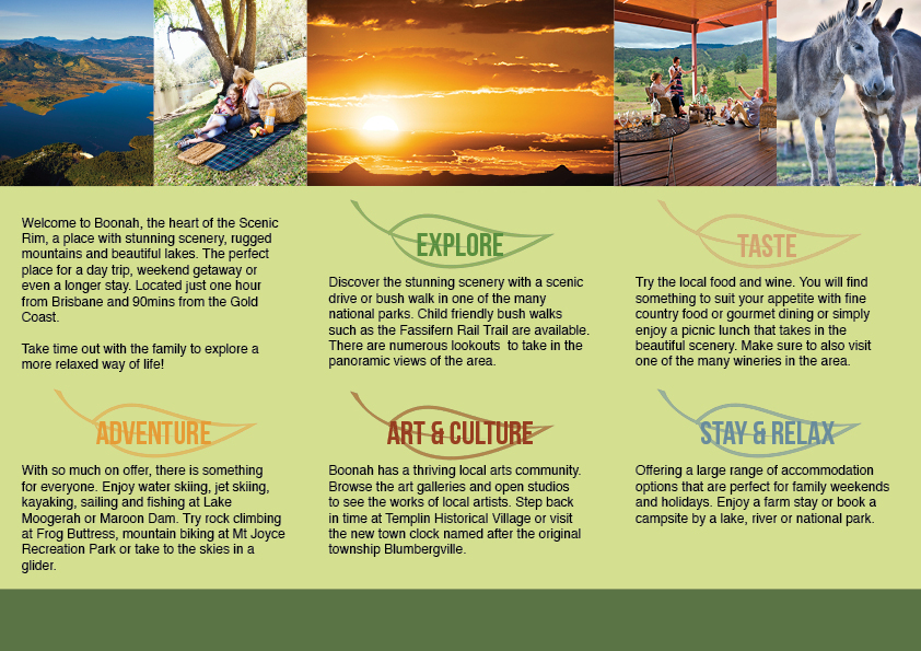 student project boonah travel brochure on behance