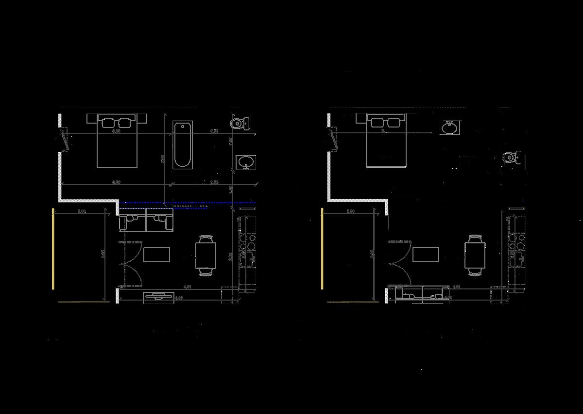 plan appartement 37 m2