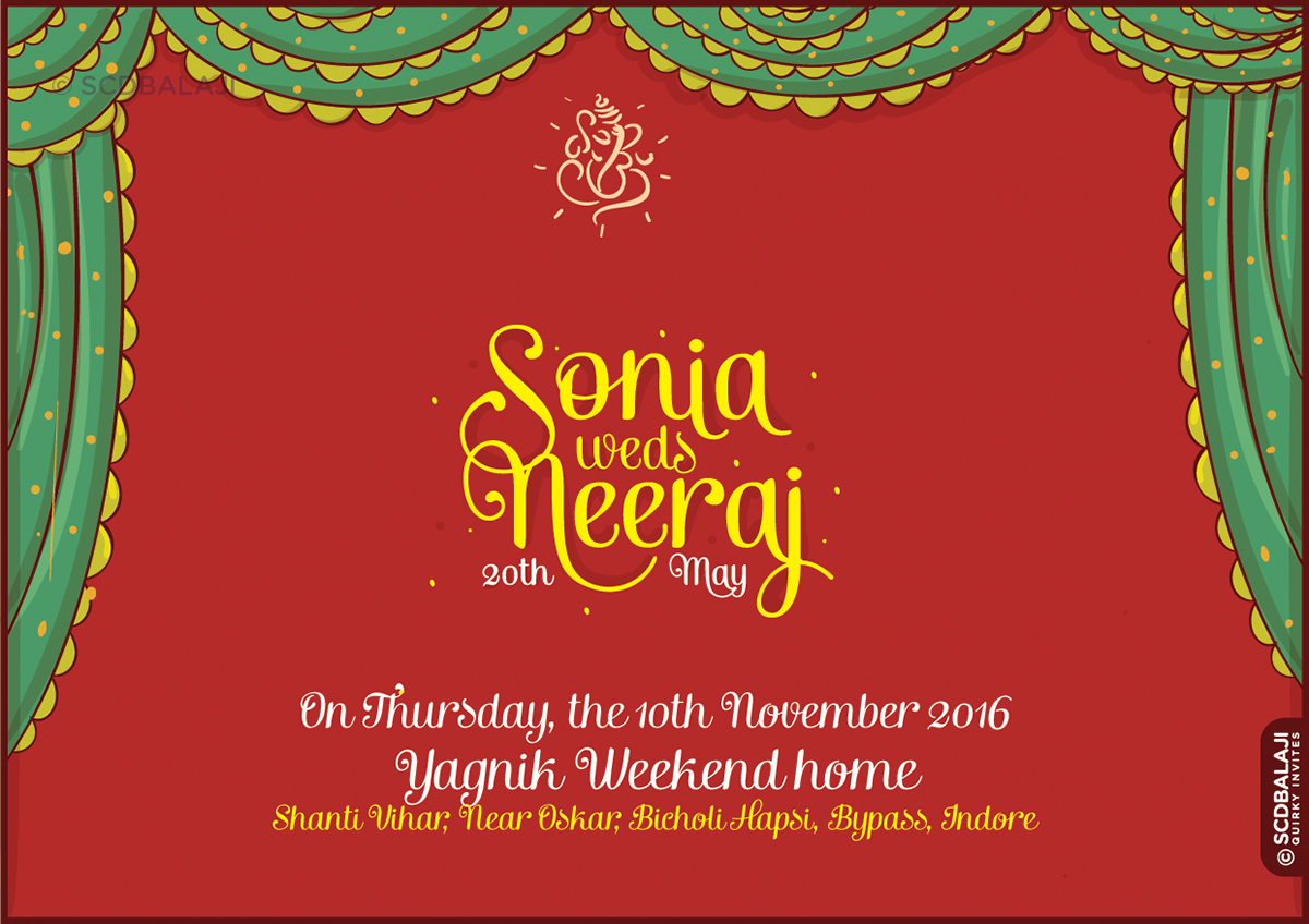 Indian Brides and Grooms\' Wedding Invitation Designs on Behance