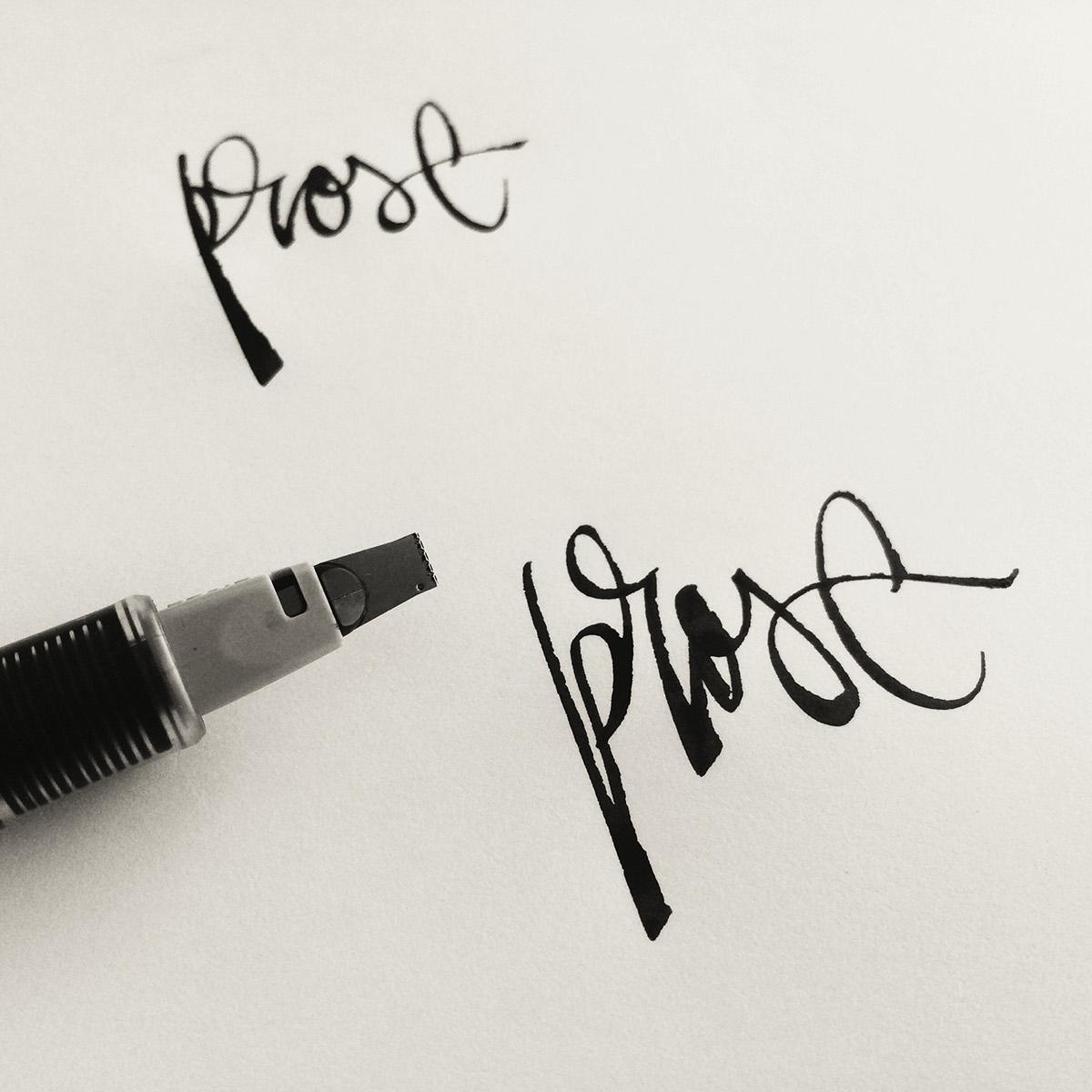 Brush pen calligraphy lettering instagram sessions on