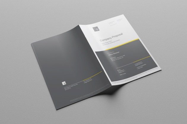 Free business proposal template ai on behance wajeb Image collections