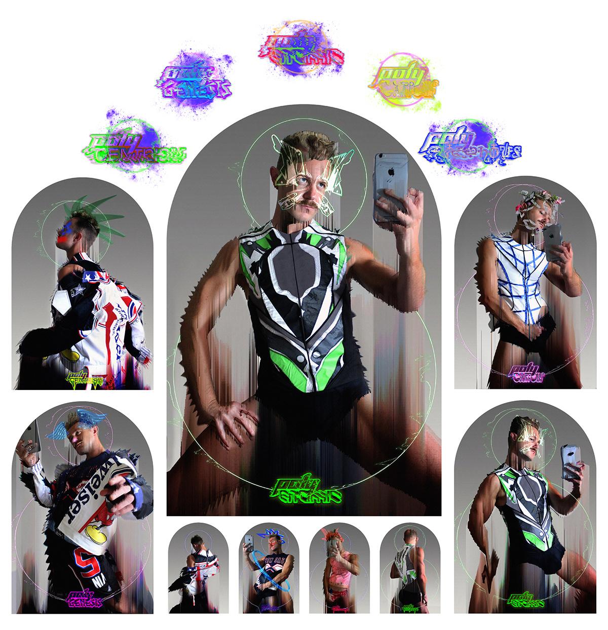 AR augmented reality dunedin Fashion  graphic design  iphone max mollison self portrait selfie spark ar