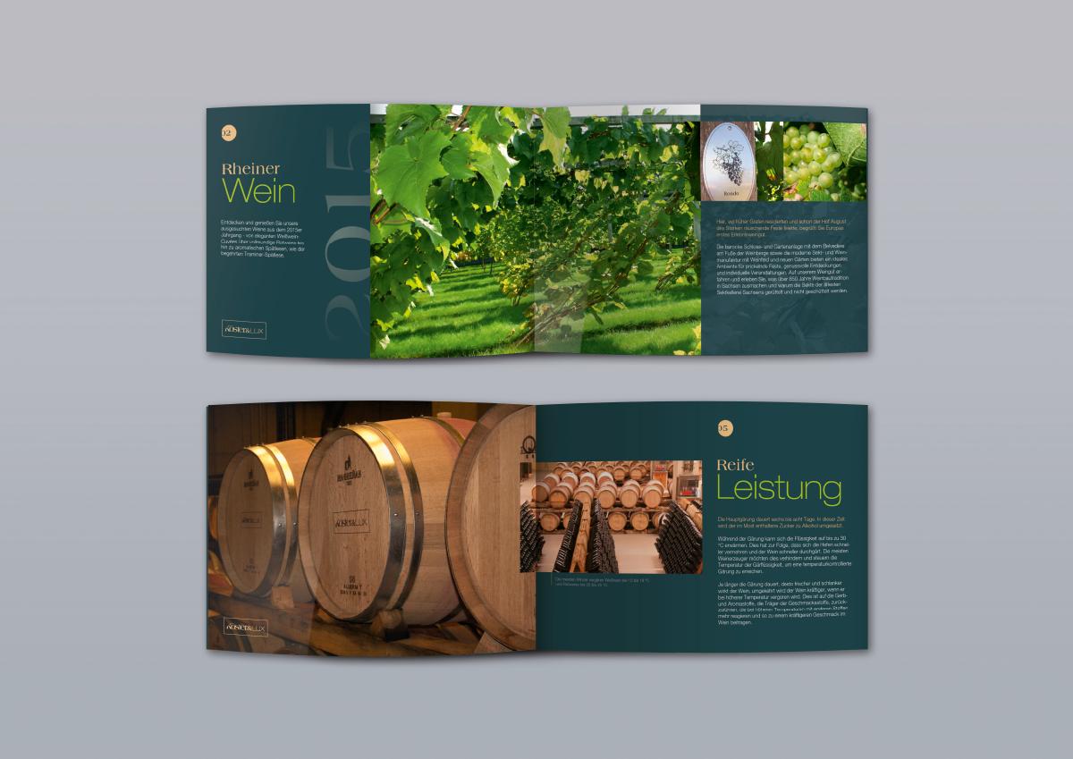 wein logo branding  flasche broschure folder corporate Web #HP