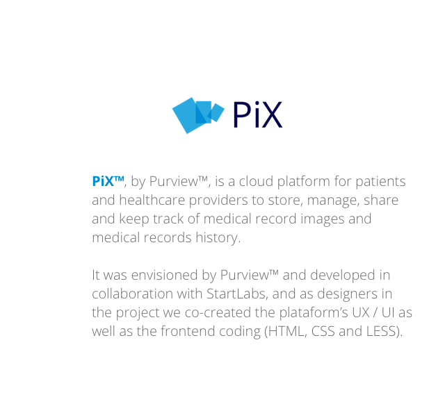 pix cloud patient medical records sharing platform on behance