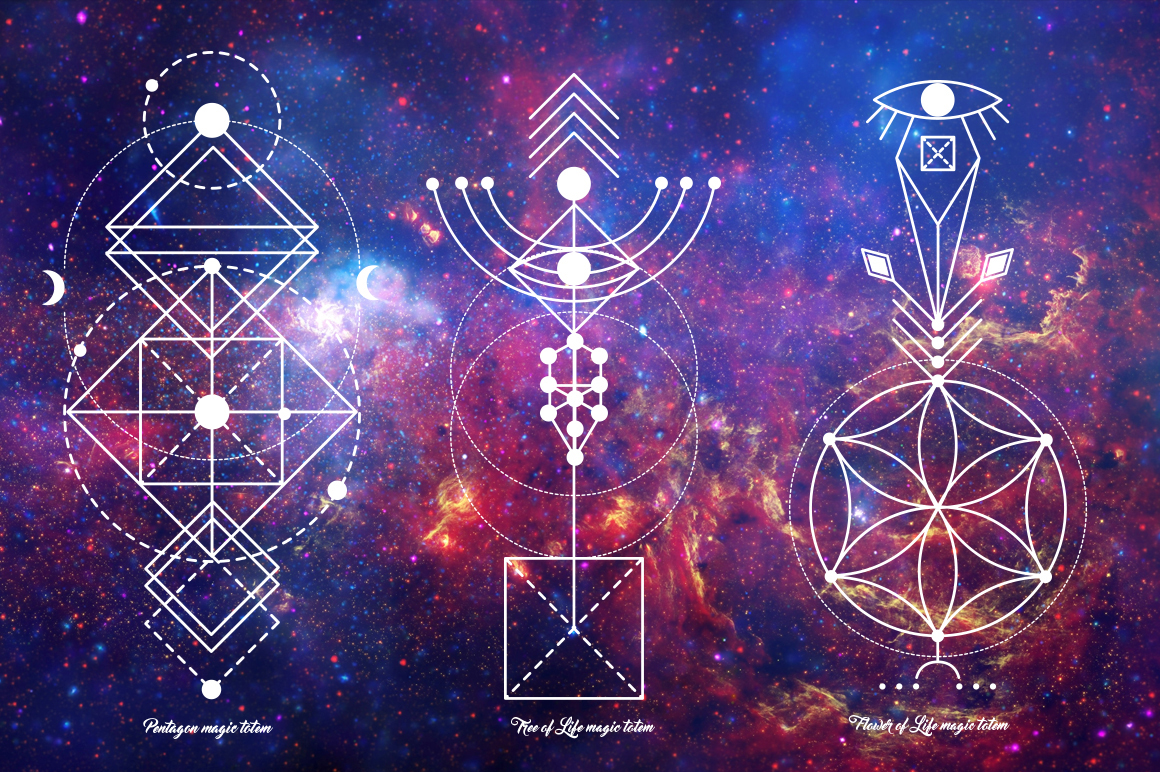 Sacred Geometry  Magic totem on Behance