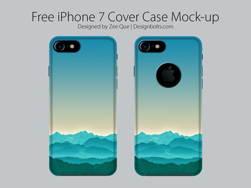 Ücretsiz Apple iPhone 7 Kapak Kılıfı Mock Up PSD
