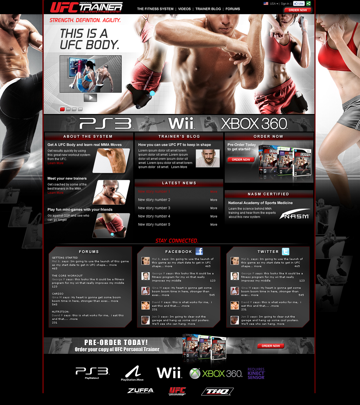 THQ UFC PERSONAL TRAINER GAME on Behance