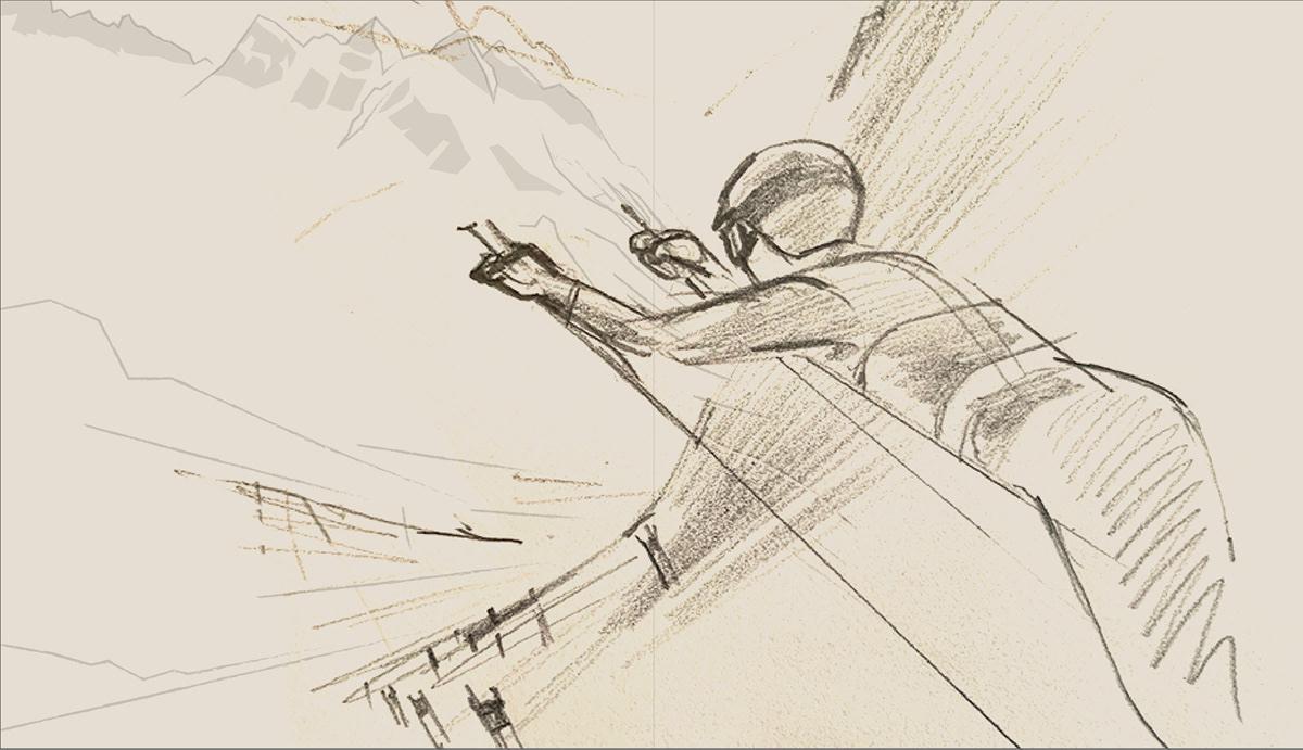 adobe illustrator branding  Graphic Designer graphics illustrations madsberg poster posterdesign skiing vector
