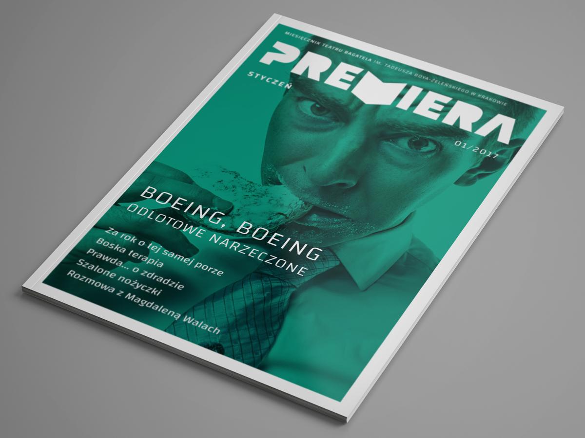 logo magazine theater  Layout cover premiera