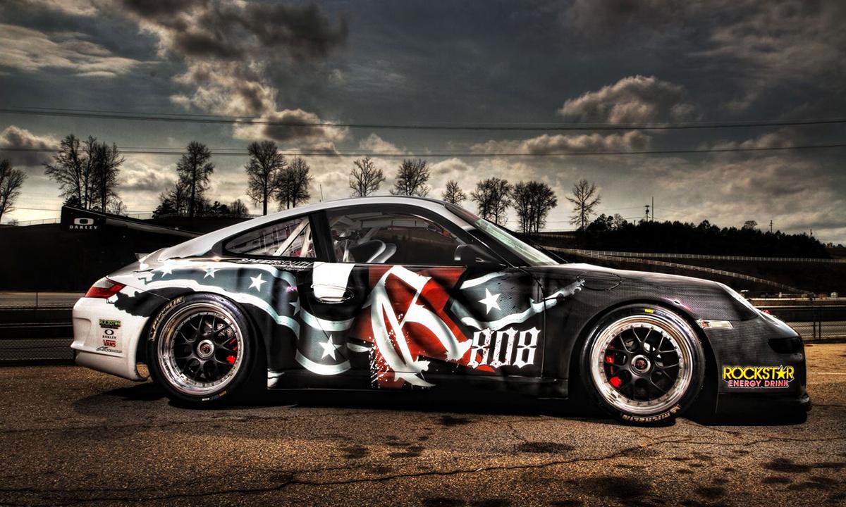 Mpire,Rebel Rock,Jim Jonsin,Race Car Design,Porsche,Company Branding