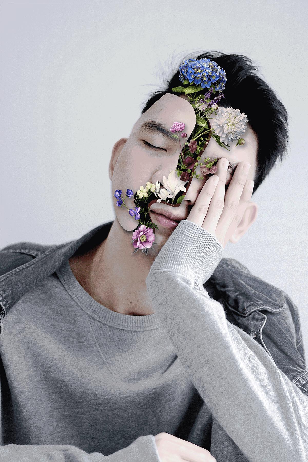 photomanipulation photoshop Flowers unsplash montagem concept design floral Flores graphicdesign