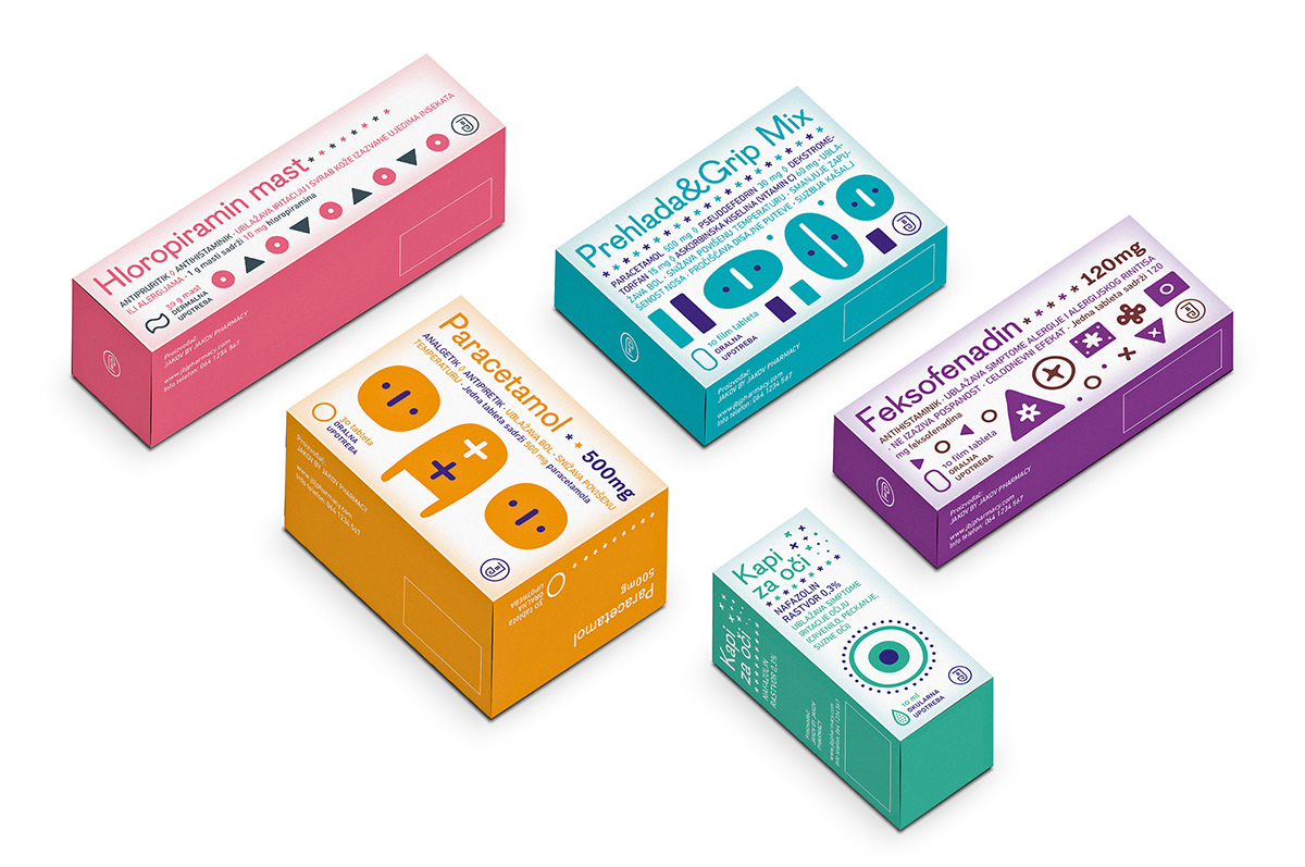 Packaging medicine Health simple cute funny pharmacy concept student design