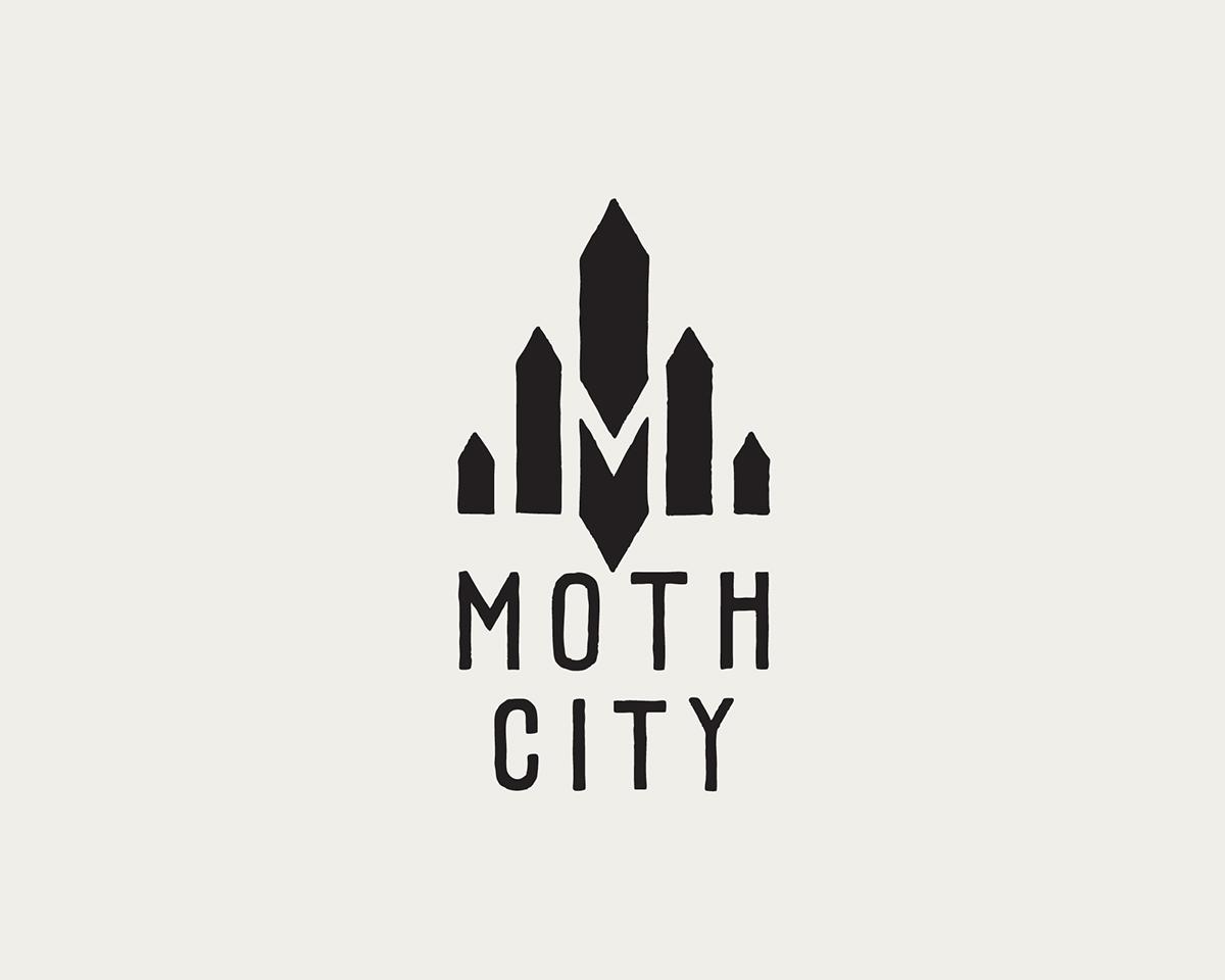logo design    moth city on behance