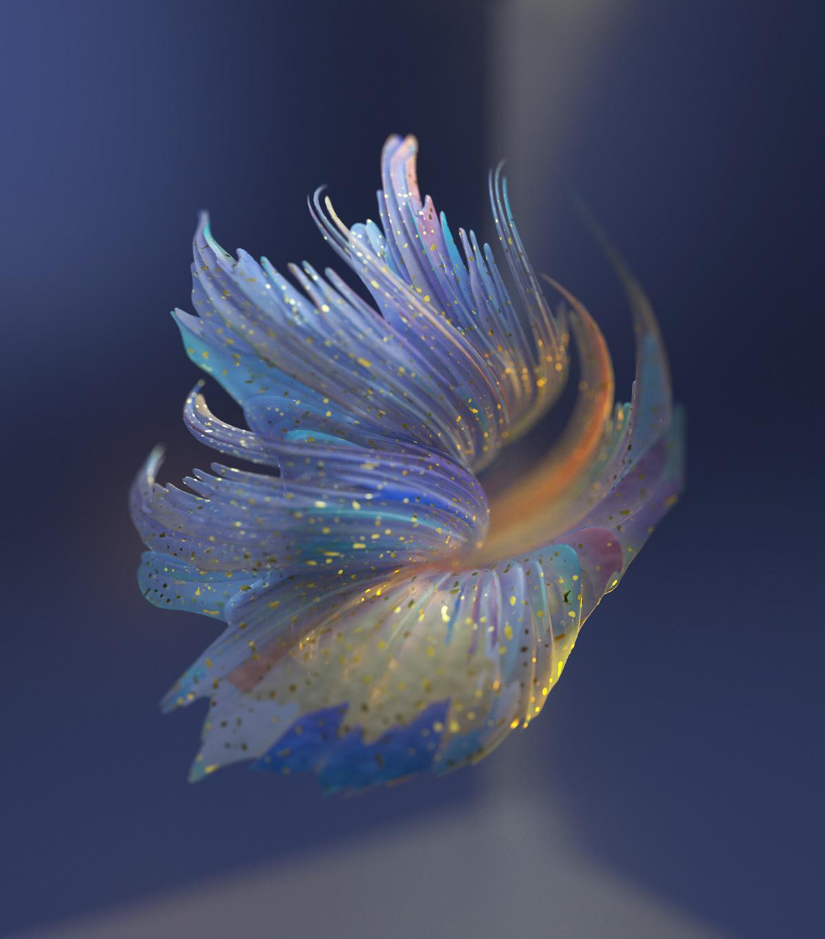 3D abstract art design digital geometry graphic design  ILLUSTRATION  motion sculpting