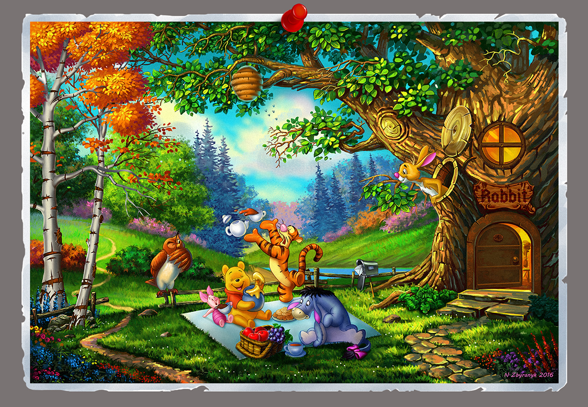 winnie the pooh and his team on behance
