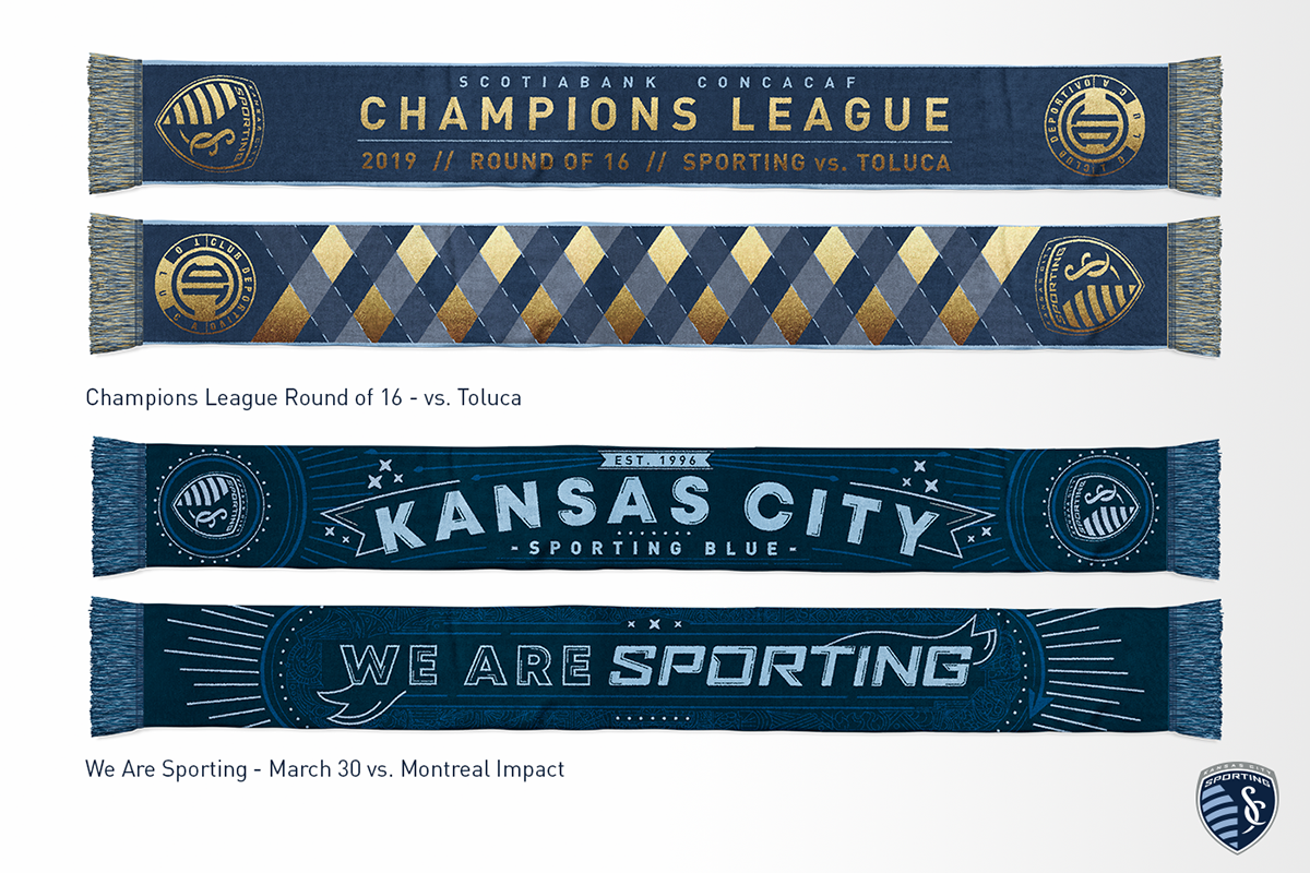 Sporting KC Scarves - 2019 Season - Updated April 9 on