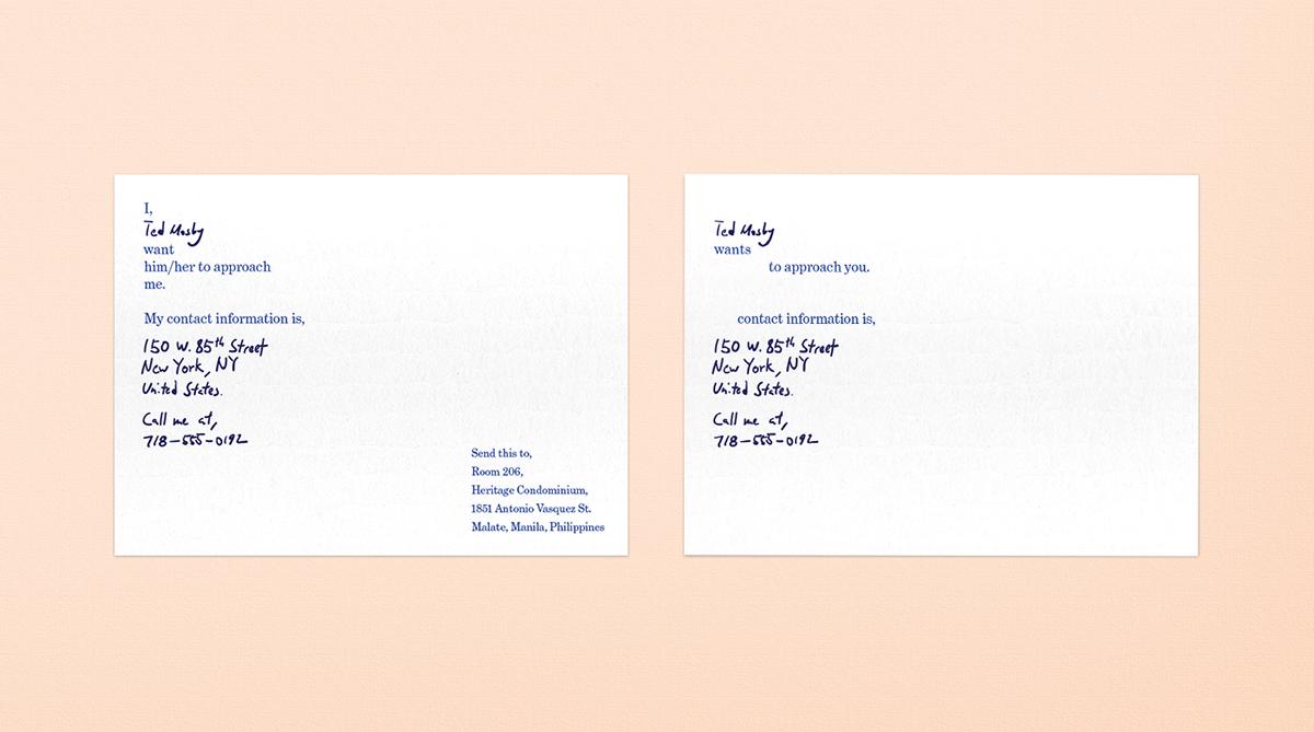 human interaction print card experimental
