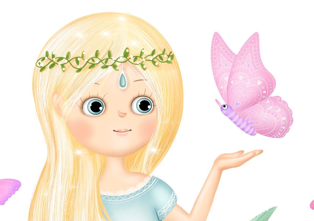 balloon children cute SKY stickers elf girl