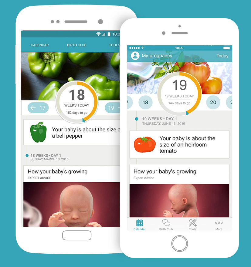 48c5620ab1f81 BabyCenter - App Redesign on Behance