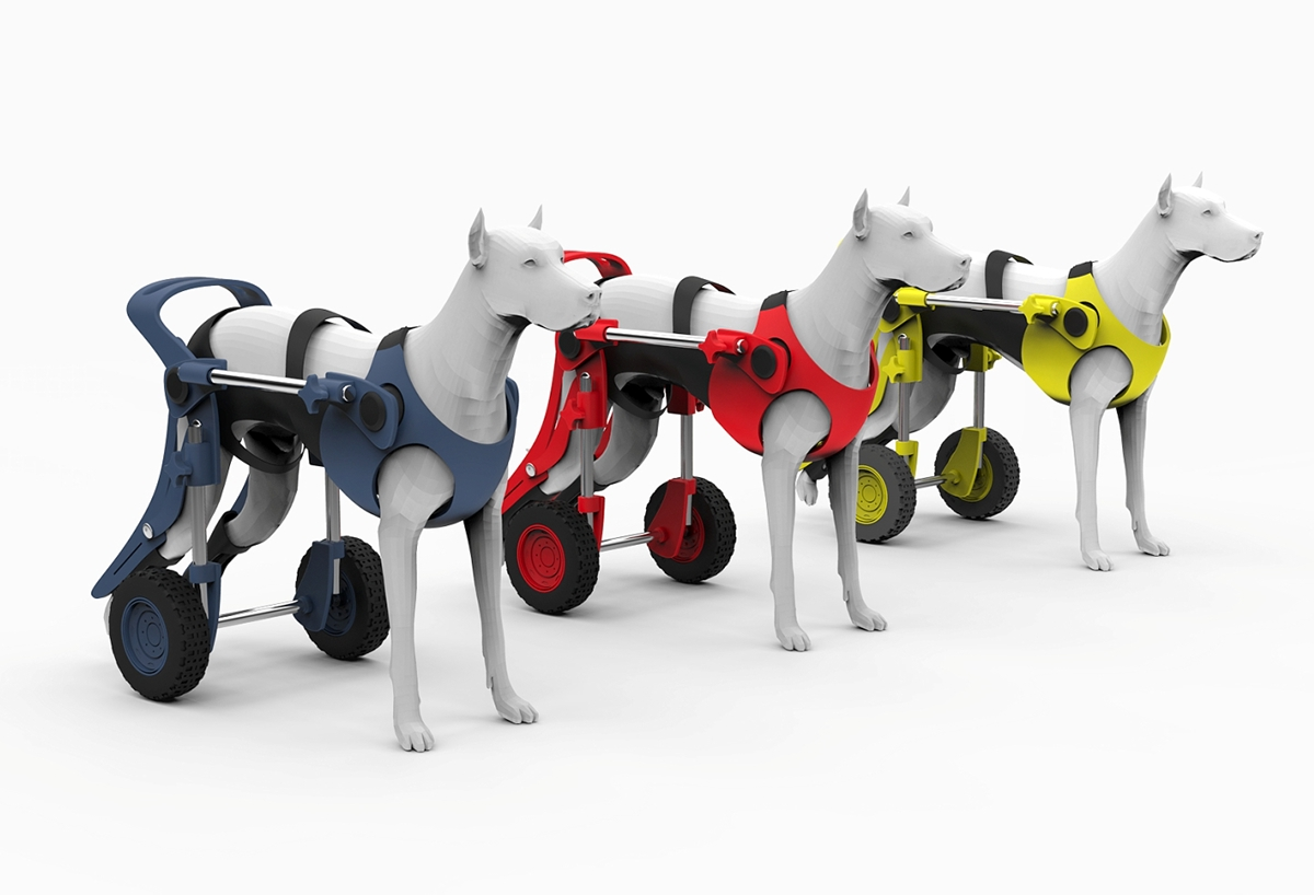 Dog wheelchair on Behance