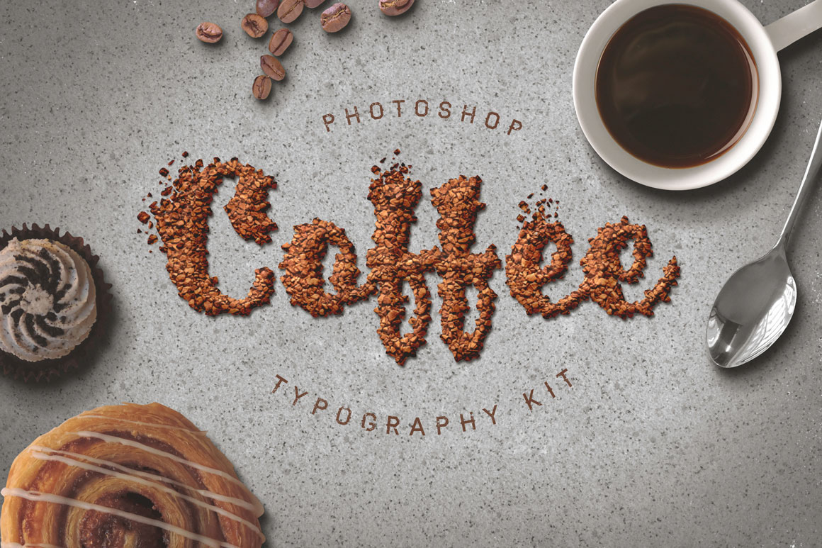 Food Typography Psd Actions On Behance