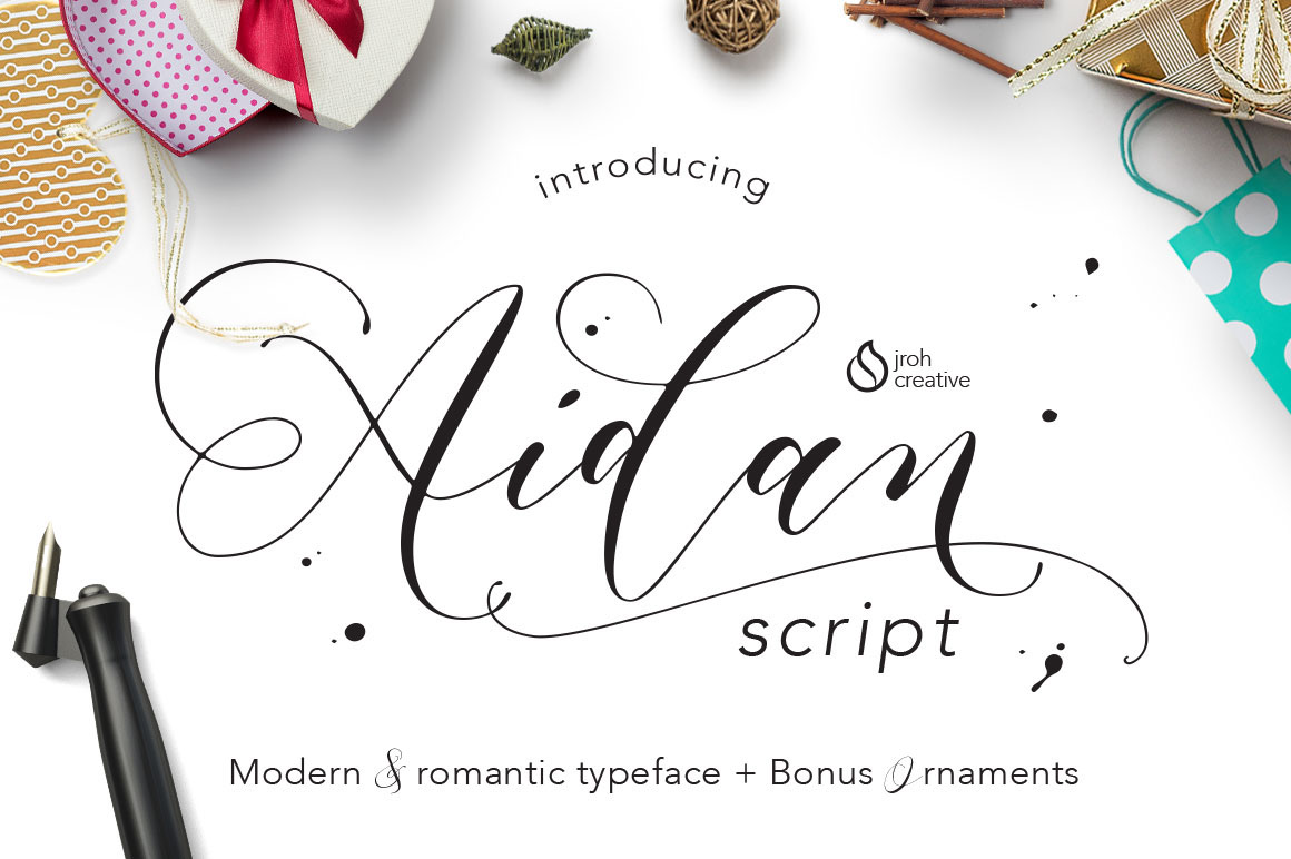 Aidan Romantic Script On Behance