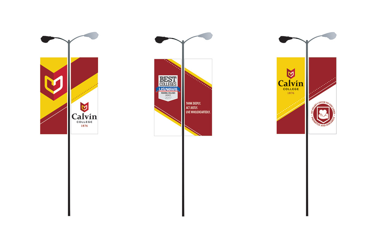 banner environmental graphics college University outdoor graphics Outdoor banners