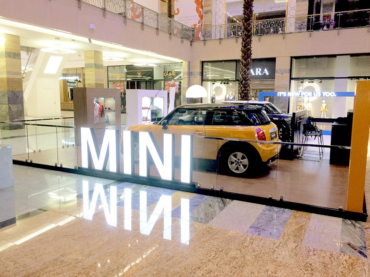 MINI mall activation John Cooper Works dubai