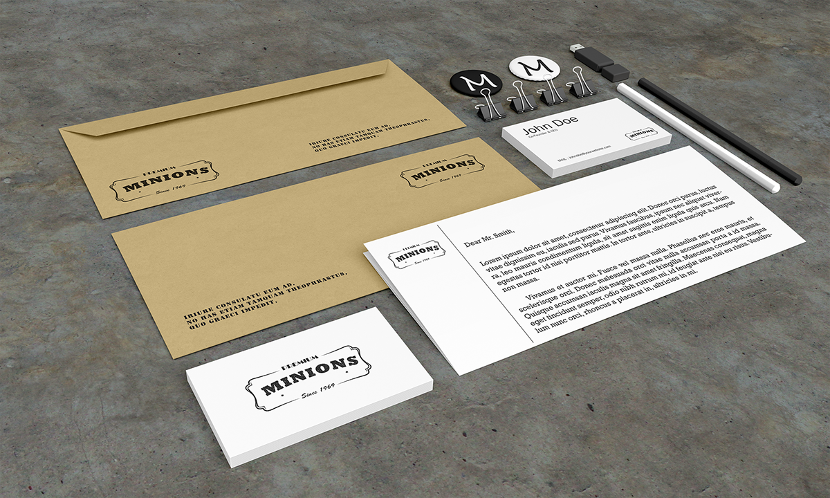 stationery psd mockups (free psd) on behance, Powerpoint templates