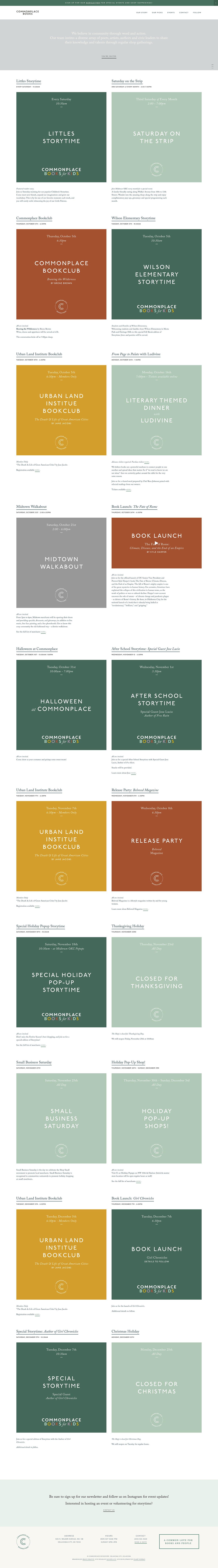 squarespace Commonplace books Gather & Co books grid based Website The Printer's Son