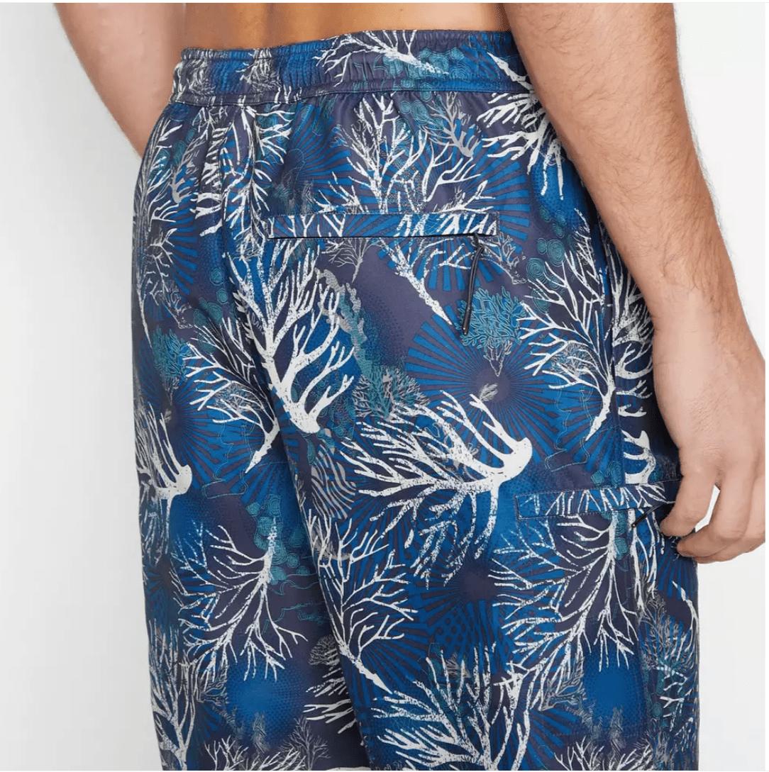 beach coral print flamingos Hawaiian Hawaiian print palms print print summer swimwear