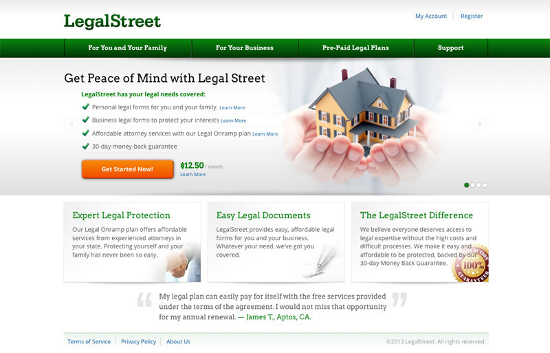 Legal Street Prototype On Behance - Easy legal documents