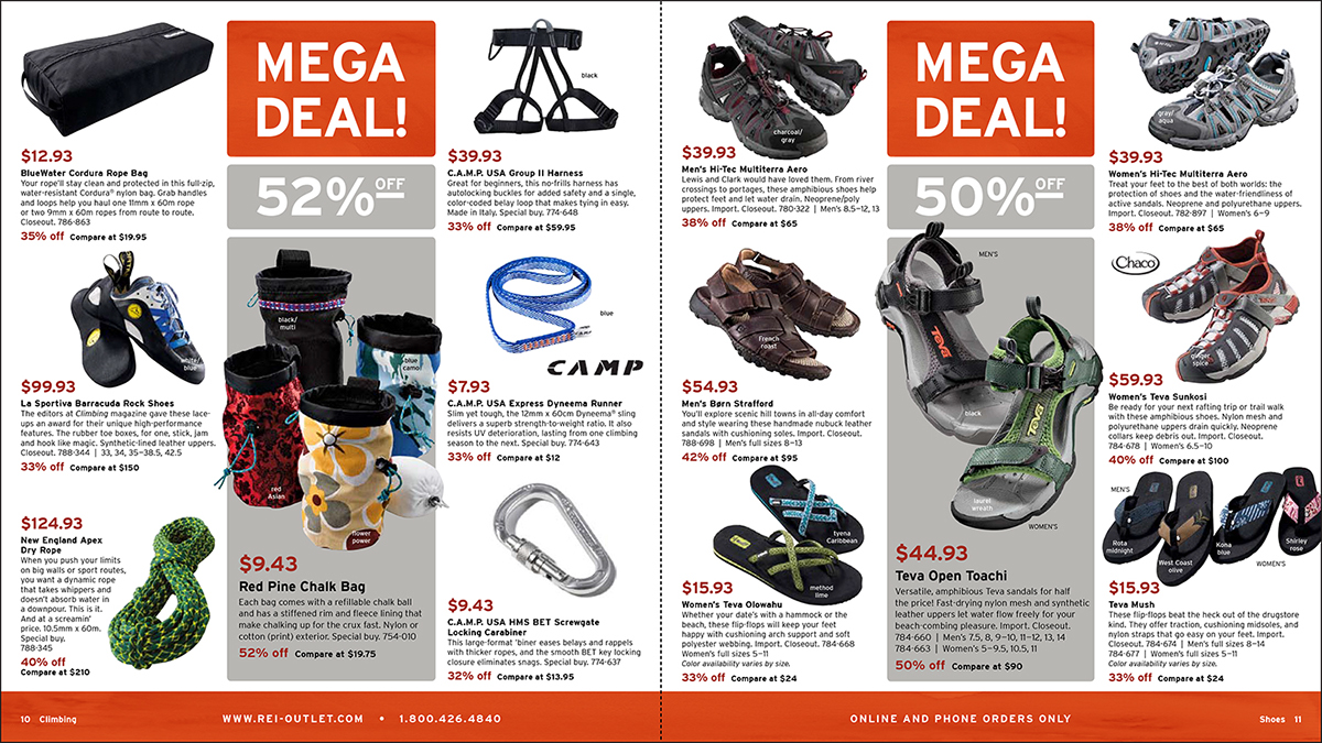 4381652c1 Direct Mail REI Summer Outlet Catalog