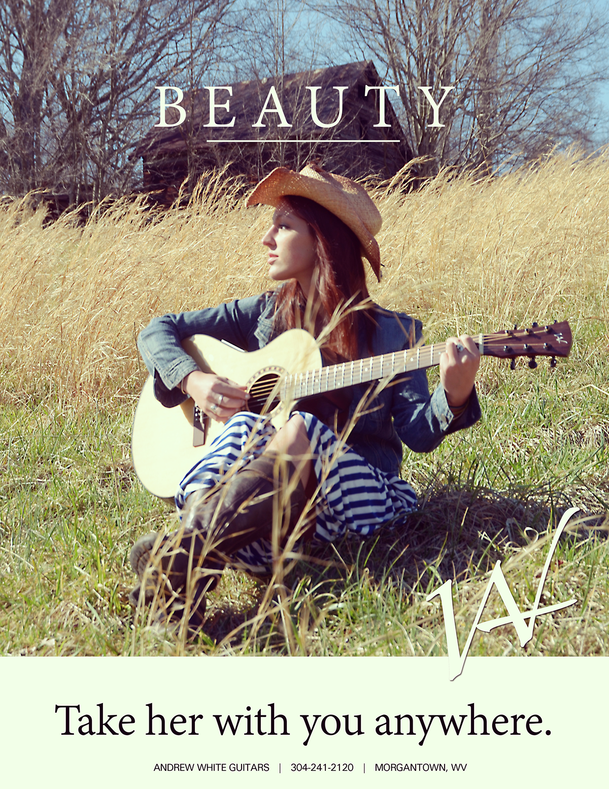 graphic design  usa north america print ad Layout art direction  guitars acoustic guitars