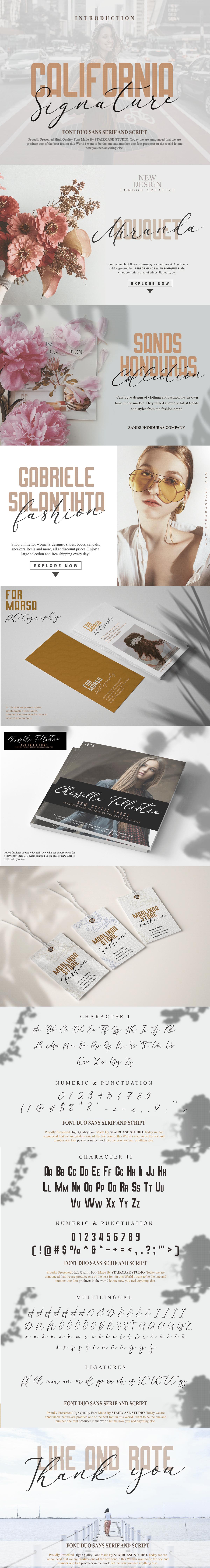 branding  California font duo fonts Invitation Logotype sans serif Script signature typewriting