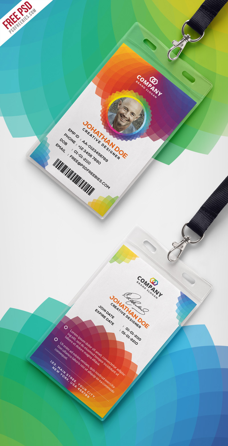 Free psd corporate branding identity card psd on behance download free corporate branding identity card free psd this free corporate office id card psd template a designed for any types of companies and offices colourmoves
