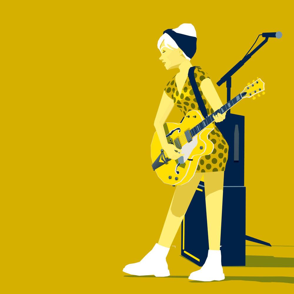 Image may contain: cartoon and guitar