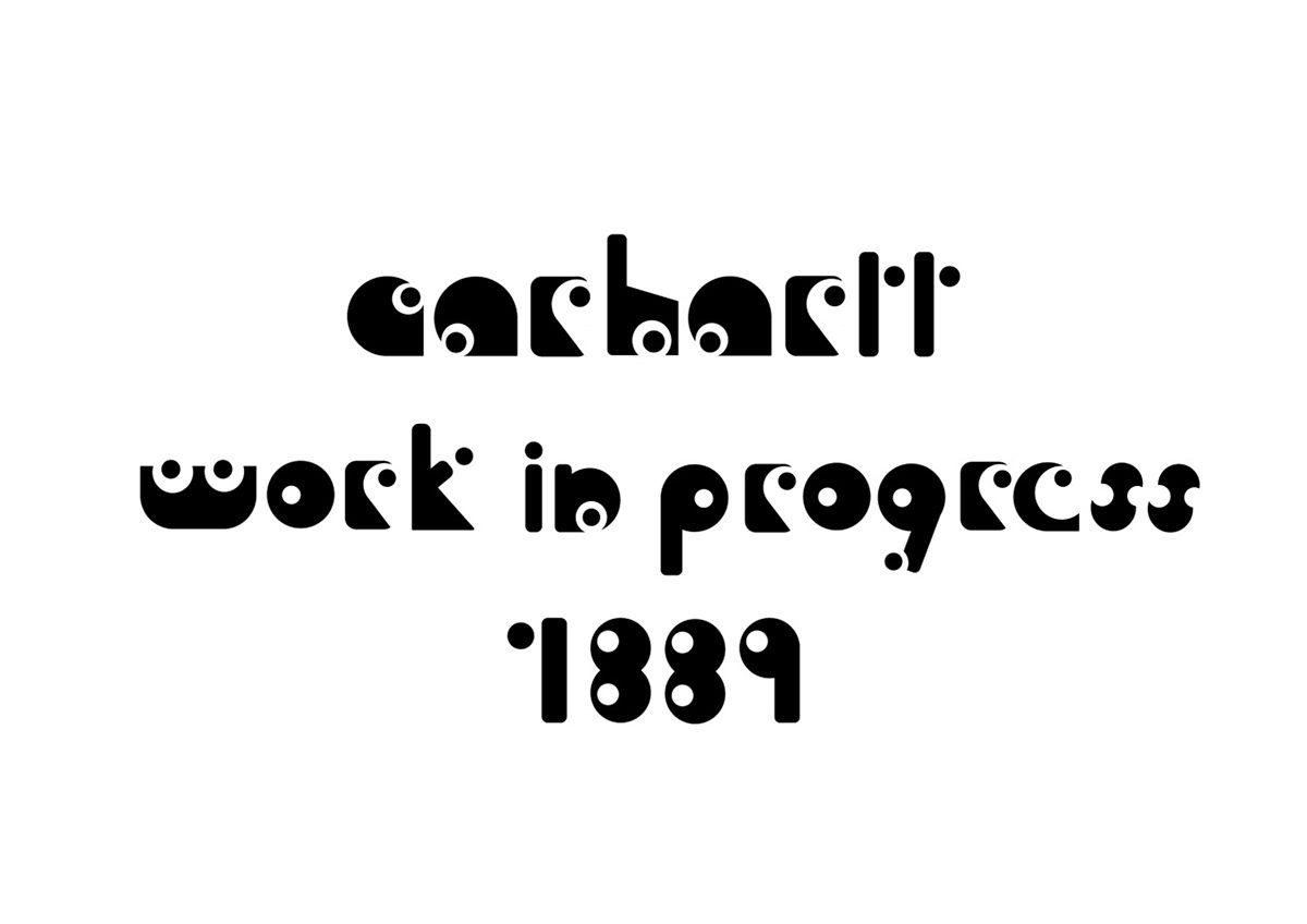 Cration Dune Typographie Pour Un Pop Up Store Fictif De La Marque Carhartt Mise En Situation Invitation Affiche Carte Visite Cartes