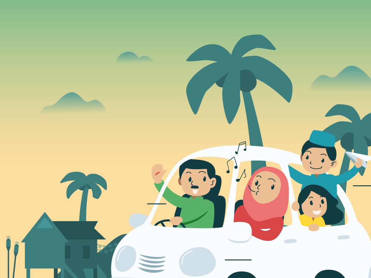 Eid ILLUSTRATION  motion graphics  raya seasonal greetings